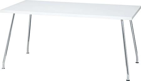 ミーティングテーブル ネオホワイト(PLUS プラス リラックステーブル RT-2000 テーブル 会議テーブル 机 長方形型 食堂 学食 社食 飲食店 店舗 フリースペース 休憩室 オフィス ミーティングルーム 会議室 打ち合わせ 幅 1500mm 150cm 白)RT-2158