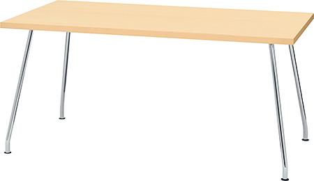 ミーティングテーブル ナチュラル(PLUS プラス リラックステーブル RT-2000 テーブル 会議テーブル 机 長方形型 食堂 学食 社食 飲食店 店舗 フリースペース 休憩室 オフィス ミーティングルーム 会議室 打ち合わせ 幅 1500mm 150cm)RT-2158