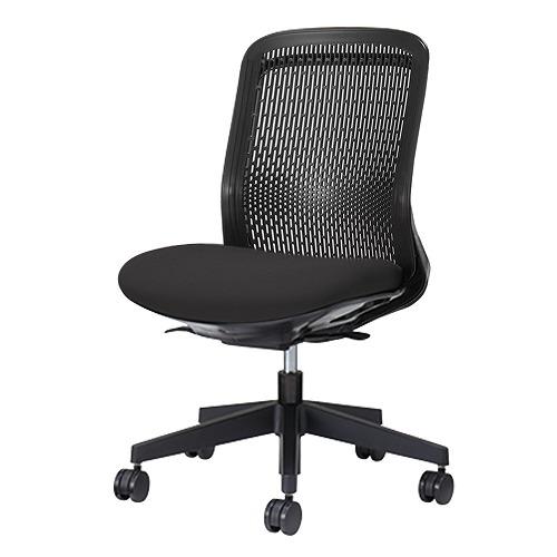 PLUS プラス Try トライ パソコンチェア PCチェア オフィスチェア ワークチェア ビジネスチェア メッシュチェア メッシュチェアー フィット メッシュ フィット 放熱 チェア チェアー 椅子 いす イス ローバック 肘なし ブラック 黒 KC-TR60SEL