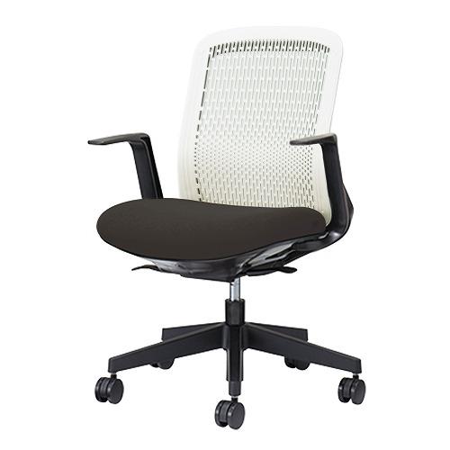 PLUS プラス Try トライ パソコンチェア PCチェア オフィスチェア ワークチェア ビジネスチェア メッシュチェア メッシュチェアー フィット メッシュ フィット 放熱 チェア チェアー 椅子 いす イス ローバック 肘付き ブラック 黒 KB-TR50SEL