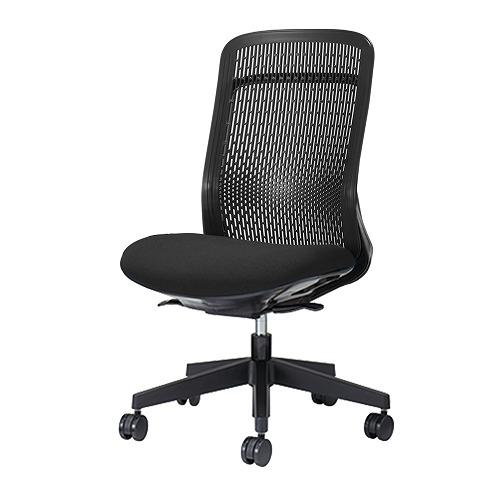 PLUS プラス Try トライ パソコンチェア PCチェア オフィスチェア ワークチェア ビジネスチェア メッシュチェア メッシュチェアー フィット メッシュ フィット 放熱 チェア チェアー 椅子 いす イス ハイバック 肘なし ブラック 黒 KC-TR61SEL