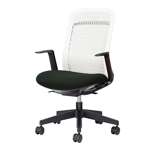 PLUS プラス Try トライ パソコンチェア PCチェア オフィスチェア ワークチェア ビジネスチェア メッシュチェア メッシュチェアー フィット メッシュ フィット 放熱 チェア チェアー 椅子 いす イス ハイバック 肘付き ブラック 黒 KB-TR51SEL