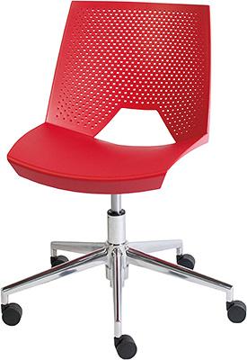 ストライク ワークチェア デザインチェア オフィスチェア STRIKE スタッキングチェア スタッキング スタイリッシュ かっこいい イタリア製 おしゃれ デザイン デザイナーズ家具 頑丈 丈夫 キャスター付き チェア チェアー 椅子 いす イス レッド 赤