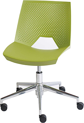 ストライク ワークチェア デザインチェア オフィスチェア STRIKE スタッキングチェア スタッキング スタイリッシュ かっこいい イタリア製 おしゃれ デザイン デザイナーズ家具 頑丈 丈夫 キャスター付き チェア チェアー 椅子 いす イス ライムグリーン