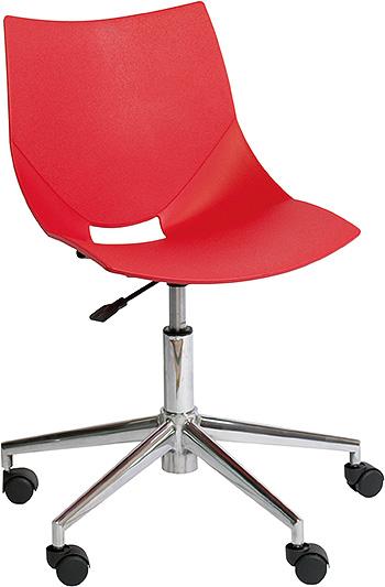 コスカスウィーベル X ワークチェア ワークチェアー オフィスチェア オフィスチェアー デザイナーチェア デザイナーチェアー キャスター付き 回転脚タイプ 回転脚 チェア チェアー インテリア おしゃれ オシャレ 書斎 作業部屋 いす 椅子 レッド 赤
