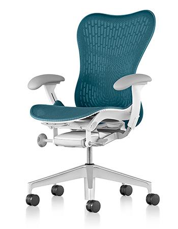 Herman Miller ハーマンミラー Mirra2 ミラ2 パソコンチェア PCチェア メッシュチェア メッシュチェアー オフィスチェア ビジネスチェア デスクチェア キャスター 事務椅子 事務チェア メッシュ チェア チェアー 椅子 イス いす ダークターコイズ