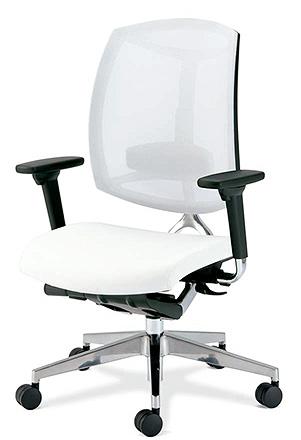 PLUS プラス Foresight フォーサイト オフィスチェア デスクチェア ワークチェア ビジネスチェア パソコンチェア PCチェア 事務椅子 事務チェア 学習チェア メッシュチェア チェア チェアー 椅子 いす イス シンプル 肘付き ホワイト 白 KD-MS73NL