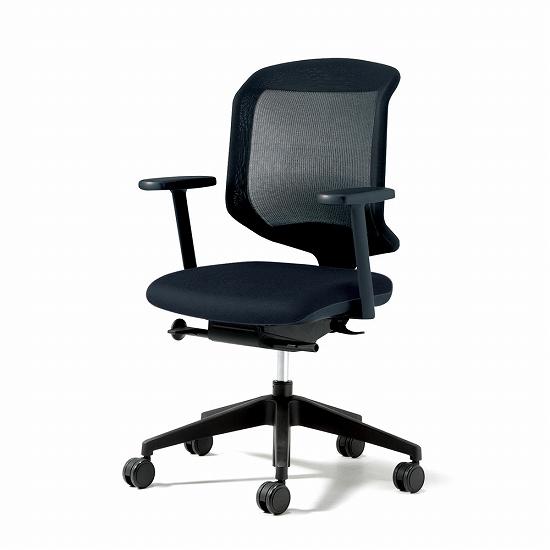 giroflex ジロフレックス 434 パソコンチェア PCチェア ワークチェア 仕事用チェア デスクチェア 事務椅子 事務チェア 学習チェア 後傾姿勢 デスクワーク 疲れにくい 長時間 チェア チェアー 椅子 chair メッシュチェア 肘付き ブラック 黒 434-7019RS
