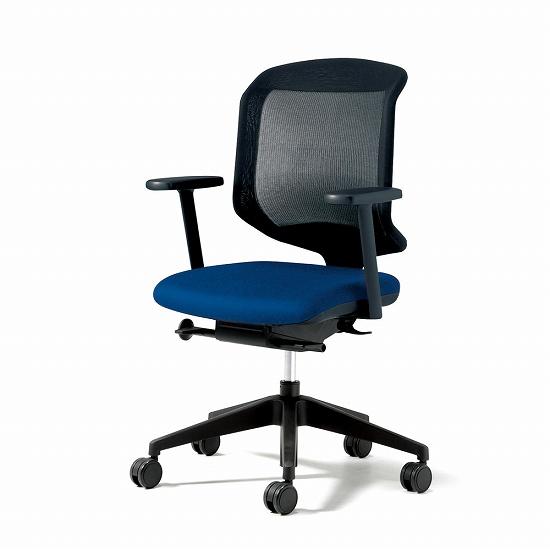 giroflex ジロフレックス 434 パソコンチェア PCチェア ワークチェア 仕事用チェア デスクチェア 事務椅子 事務チェア 学習チェア 後傾姿勢 デスクワーク 疲れにくい 長時間 チェア チェアー 椅子 chair メッシュチェア 肘付き ブルー 青 434-7019RS