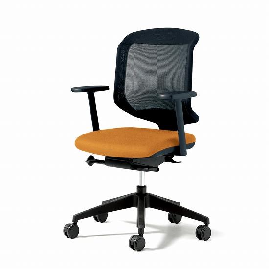 giroflex ジロフレックス 434 パソコンチェア PCチェア ワークチェア 仕事用チェア デスクチェア 事務椅子 事務チェア 学習チェア 後傾姿勢 デスクワーク 疲れにくい 長時間 チェア チェアー 椅子 chair メッシュチェア 肘付き ダークオレンジ 434-7019RS