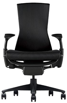 ハーマンミラー HermanMiller エンボディチェア 黒 ブラック パソコンチェア PCチェア オフィスチェア 仕事用チェア 高級 腰 支える イス 椅子 いす チェア chair リクライニング 疲れにくい かっこいい おしゃれ G1/G1/3014