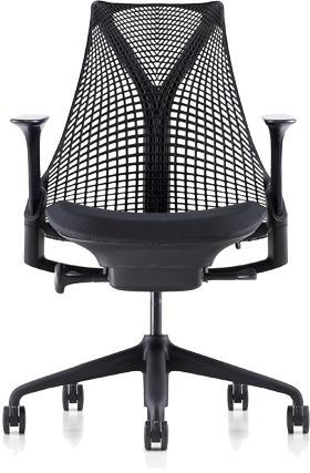 ハーマンミラー セイルチェア セイル パソコンチェア パソコンチェアー PCチェア オフィスチェア ビジネスチェア 学習椅子 事務椅子 事務チェア 椅子 いす イス チェア チェアー 身体を支える 小柄な方 前傾姿勢 肘付き 黒 ブラック HAN2BKBBBKBK9115