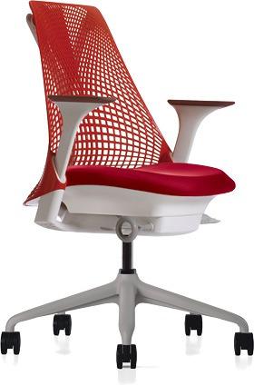 ハーマンミラー セイルチェア セイル パソコンチェア パソコンチェアー PCチェア オフィスチェア ビジネスチェア 学習椅子 事務椅子 事務チェア 椅子 いす イス チェア チェアー 身体を支える 小柄な方 前傾姿勢 肘付き 赤 レッド HAN265BBRO829112