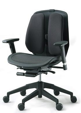 DUOREST デュオレスト ALPHAシリーズ パソコンチェア PCチェア オフィスチェア 学習チェア 学習椅子 ゲーム トレーダー 株 チェア 椅子 イス いす 背もたれ デスクワーク 長時間 疲れにくい 腰 背筋 サポート メッシュブラック 黒 α80N ABK