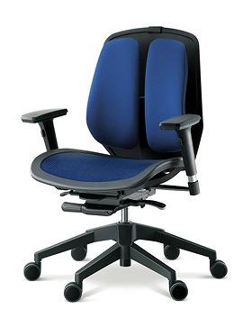 DUOREST デュオレスト ALPHAシリーズ パソコンチェア PCチェア オフィスチェア 学習チェア 学習椅子 ゲーム トレーダー 株 チェア 椅子 イス いす 背もたれ デスクワーク 長時間 疲れにくい 腰 背筋 サポート メッシュブルー 青 α80N ABE