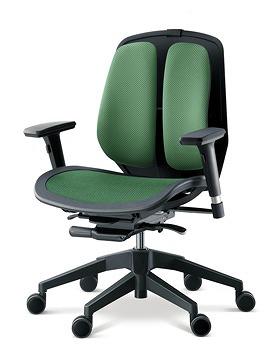 DUOREST デュオレスト ALPHAシリーズ パソコンチェア PCチェア オフィスチェア 学習チェア 学習椅子 ゲーム トレーダー 株 チェア 椅子 イス いす 背もたれ デスクワーク 長時間 疲れにくい 腰 背筋 サポート メッシュグリーン 緑 α80N AGN