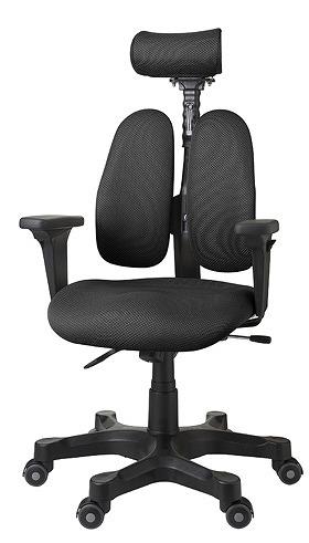 DUOREST デュオレスト DRシリーズ パソコンチェア PCチェア オフィスチェア 学習チェア 学習椅子 ゲーミングチェア トレーダー 株 チェア 椅子 イス いす 背もたれ デスクワーク 長時間 疲れにくい 腰 背筋 サポート ブラック 黒 DR-7501SP ABK