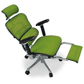 Ergohuman エルゴヒューマン プロ ハイブリット機能 オットマン内臓 足置き付き パソコンチェア PCチェア オフィスチェア ビジネスチェア ワークチェア チェア チェアー 椅子 イス いす オフィス 高機能 メッシュ 調節機能 緑 グリーン EHP-LPL-HB KMD34