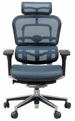 エルゴヒューマン プロ ハイバック ハイブリット機能 パソコンチェア PCチェア ゲーミングチェア ゲーム 株 オフィスチェア 学習椅子 学習チェア 仕事用チェア 事務いす 事務椅子 チェア 椅子 イス 高級感 かっこいい 青 ブルー EH-HAM-HB KM15