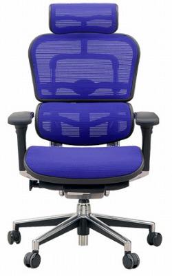 エルゴヒューマン ハイバック ハイブリット機能 パソコンチェア PCチェア ゲーミングチェア ゲーム 株 オフィスチェア 学習椅子 学習チェア 仕事用チェア 事務いす 事務椅子 チェア 椅子 イス 高級感 かっこいい 青 ブルー EH-HAM-HB KMD35