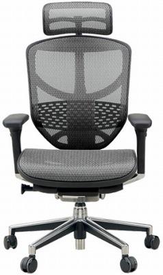 エルゴヒューマン エンジョイ ハイバック ハイブリット機能 パソコンチェア PCチェア ゲーミングチェア ゲーム 株 オフィスチェア 学習椅子 学習チェア 仕事用 事務いす 事務椅子 チェア 椅子 イス 高級感 かっこいい 灰色 グレー EJ-HAM-HB KM10
