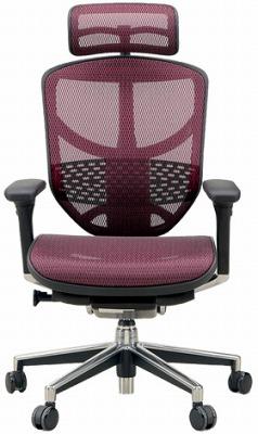 エルゴヒューマン エンジョイ ハイバック ハイブリット機能 パソコンチェア PCチェア ゲーミングチェア ゲーム 株 オフィスチェア 学習椅子 学習チェア 仕事用 事務いす 事務椅子 チェア 椅子 イス 高級感 かっこいい 赤 レッド EJ-HAM-HB KM12