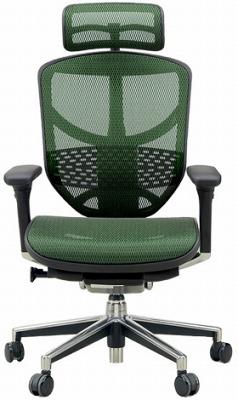 エルゴヒューマン エンジョイ ハイバック ハイブリット機能 パソコンチェア PCチェア ゲーミングチェア ゲーム 株 オフィスチェア 学習椅子 学習チェア 仕事用チェア 事務いす 事務椅子 チェア イス 高級感 かっこいい 緑 グリーン EJ-HAM-HB KM14