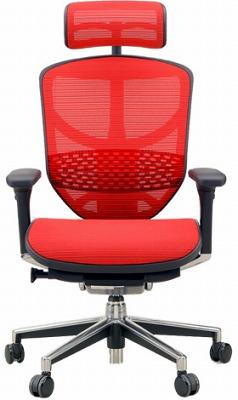 エルゴヒューマン エンジョイ ハイバック ハイブリット機能 パソコンチェア PCチェア ゲーミングチェア ゲーム 株 オフィスチェア 学習椅子 学習チェア 仕事用チェア 事務いす 事務椅子 チェア イス 高級感 かっこいい 赤 レッド EJ-HAM-HB KMD32