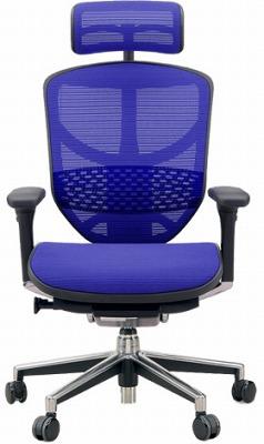 エルゴヒューマン エンジョイ ハイバック ハイブリット機能 パソコンチェア PCチェア ゲーミングチェア ゲーム 株 オフィスチェア 学習椅子 学習チェア 仕事用チェア 事務いす 事務椅子 チェア イス 高級感 かっこいい 青 ブルー EJ-HAM-HB KMD35