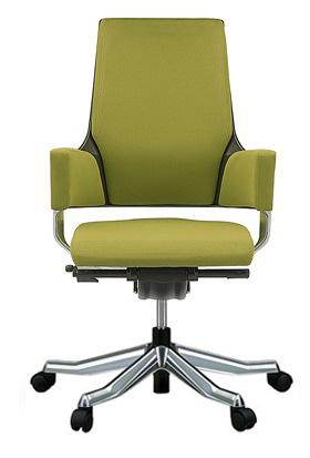MERRYFAIR DELPHI デルフィチェア パソコンチェア PCチェア 事務椅子 事務チェア オフィスチェア チェア イス 椅子 いす ゲーミングチェア かっこいい スタイリッシュ モダンチェア キャスター付き ミドルバック 布張り 布 オリーブ色 498MAA49V BL411