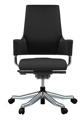 MERRYFAIR DELPHI デルフィチェア パソコンチェア PCチェア 事務椅子 事務チェア オフィスチェア ゲーミングチェア イス 椅子 いす チェア かっこいい スタイリッシュ モダンチェア キャスター付き ミドルバック 布張り 布 ブラック色 498MAA49V BL418