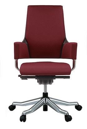 MERRYFAIR DELPHI デルフィチェア パソコンチェア PCチェア 事務椅子 事務チェア オフィスチェア ゲーミングチェア イス 椅子 チェア かっこいい スタイリッシュ モダンチェア キャスター付き ミドルバック 布張り 布 バーガンディ色 498MAA49V BL403
