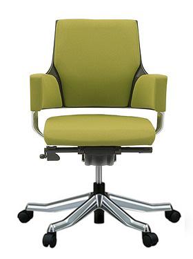 MERRYFAIR DELPHI デルフィチェア パソコンチェア PCチェア 事務椅子 事務チェア オフィスチェア ゲーミングチェア イス いす 椅子 チェア かっこいい スタイリッシュ モダンチェア キャスター付き ローバック 布張り 布 オリーブ色 497MAA49V BL411