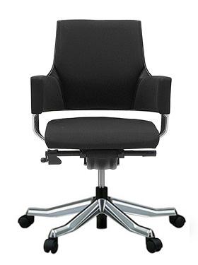 MERRYFAIR DELPHI デルフィチェア パソコンチェア PCチェア 事務椅子 事務チェア オフィスチェア ゲーミングチェア 椅子 イス いす チェア かっこいい スタイリッシュ モダンチェア キャスター付き ローバック 布張り 布 ブラック色 497MAA49V BL418