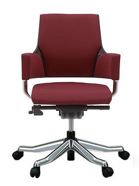 MERRYFAIR DELPHI デルフィチェア パソコンチェア PCチェア 事務椅子 事務チェア オフィスチェア ゲーミングチェア 椅子 いす イス チェア かっこいい スタイリッシュ モダンチェア キャスター付き ローバック 布張り バーガンディ色 497MAA49V BL403