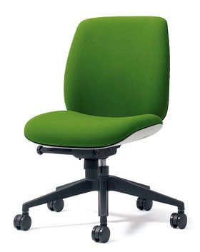 PLUS プラス ユーチェア Uチェア ワークチェア オフィスチェア パソコンチェア イス チェア 椅子 事務椅子 事務チェア 学習チェア 仕事用チェア カラフル キャスター付き ローバック 樹脂脚 肘なし 黄緑 イエローグリーン  KC-UC50SEL YG