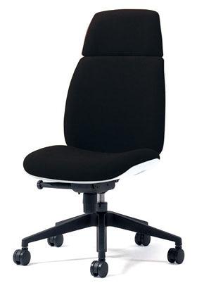 PLUS プラス ユーチェア Uチェア ワークチェア オフィスチェア パソコンチェア イス チェア 椅子 事務椅子 事務チェア 学習チェア 仕事用チェア カラフル キャスター付き ハイバック 樹脂脚 肘なし 黒 ブラック  KC-UC66SEL BK