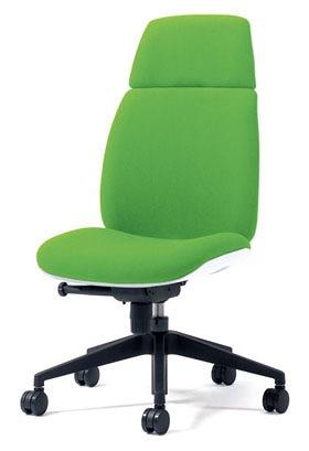 PLUS プラス ユーチェア Uチェア ワークチェア オフィスチェア パソコンチェア イス チェア 椅子 事務椅子 事務チェア 学習チェア 仕事用チェア カラフル キャスター付き ハイバック 樹脂脚 肘なし 黄緑 イエローグリーン  KC-UC66SEL YG