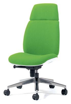 PLUS プラス ユーチェア Uチェア ワークチェア オフィスチェア パソコンチェア イス チェア 椅子 事務椅子 事務チェア 学習チェア 仕事用チェア カラフル キャスター付き ハイバック アルミ脚 肘なし 黄緑 イエローグリーン  KC-UC56SEL YG