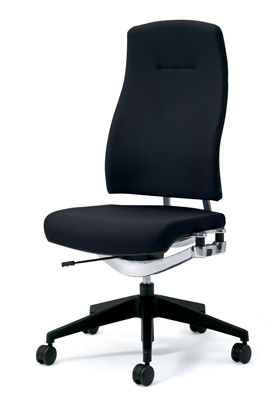 PLUS プラス リオルガワン パソコンチェア PCチェア オフィスチェア デスクチェア 事務椅子 学習椅子 学習チェア 勉強椅子 ユニークチェア シンプル 椅子 イス チェア chair 仕事イス 仕事用椅子 座り心地 肘なし ハイバック 黒 ブラック KC-RP64SL