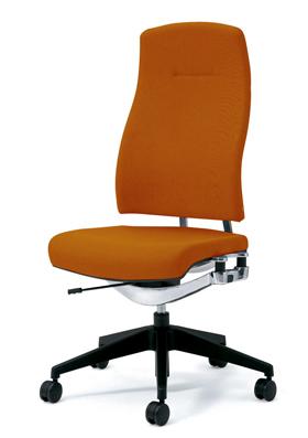 PLUS プラス リオルガワン パソコンチェア PCチェア オフィスチェア デスクチェア 事務椅子 学習椅子 学習チェア 勉強椅子 ユニークチェア シンプル 椅子 イス チェア chair 仕事イス 仕事用椅子 座り心地 肘なし ハイバック 橙 オレンジ KC-RP64SL