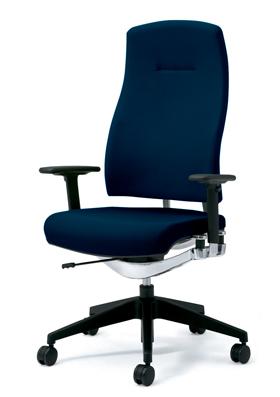 PLUS プラス リオルガワン パソコンチェア PCチェア オフィスチェア デスクチェア 事務椅子 学習椅子 学習チェア 勉強椅子 ユニークチェア シンプル 椅子 イス チェア chair 仕事イス 仕事用椅子 座り心地 肘付き ハイバック 青 ブルー KD-RP65SL