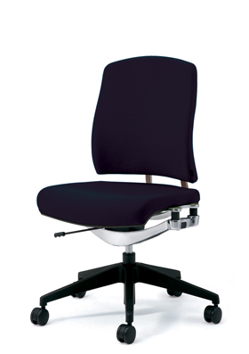 PLUS プラス リオルガワン パソコンチェア PCチェア オフィスチェア デスクチェア 事務椅子 学習椅子 学習チェア 勉強椅子 ユニークチェア シンプル 椅子 イス チェア chair 仕事イス 仕事用椅子 座り心地 肘なし ミドルバック 黒 ブラック KC-RP66SL