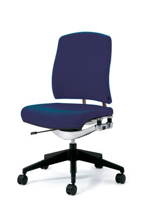 PLUS プラス リオルガワン パソコンチェア PCチェア オフィスチェア デスクチェア 事務椅子 学習椅子 学習チェア 勉強椅子 ユニークチェア シンプル 椅子 イス チェア chair 仕事イス 仕事用椅子 座り心地 肘なし ミドルバック 青 ブルー KC-RP66SL