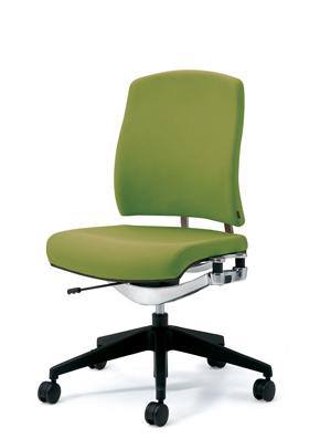 PLUS プラス リオルガワン パソコンチェア PCチェア オフィスチェア デスクチェア 事務椅子 学習椅子 学習チェア 勉強椅子 シンプル 椅子 イス チェア chair 仕事イス 仕事用椅子 座り心地 肘なし ミドルバック 黄緑 イエローグリーン KC-RP66SL