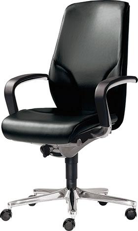 giroflex ジロフレックス 64 ハイバック 革張り 革 パソコンチェア PCチェア ワークチェア オフィスチェア 仕事用チェア デスクチェア 学習チェア 学習イス 事務椅子 後傾姿勢 デスクワーク 疲れにくい イス 椅子 肘付き ブラック 黒 64-9278RCL