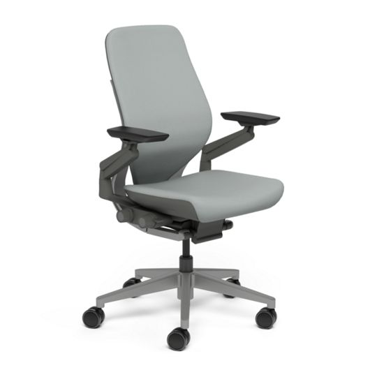 Steelcase スチールケース Gesture ジェスチャー チェア ワークチェア オフィスチェア パソコンチェア PCチェア 事務椅子 事務チェア 学習椅子 フィット 長時間 作業 疲れにくい 腰 サポート シェルバック ダーク ニッケル 灰色 K-442A30DD