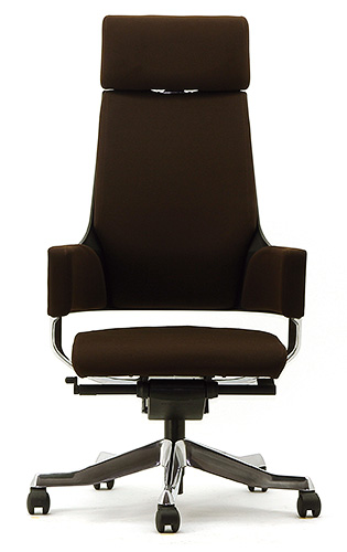 MERRYFAIR DELPHI デルフィチェア パソコンチェア PCチェア 事務椅子 事務チェア かっこいい スタイリッシュ モダンチェア キャスター付き ハイバック 布張り ココア BL406