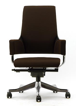 MERRYFAIR DELPHI デルフィチェア パソコンチェア PCチェア 事務椅子 事務チェア かっこいい スタイリッシュ モダンチェア キャスター付き ミドルバック 布張り ココア BL406