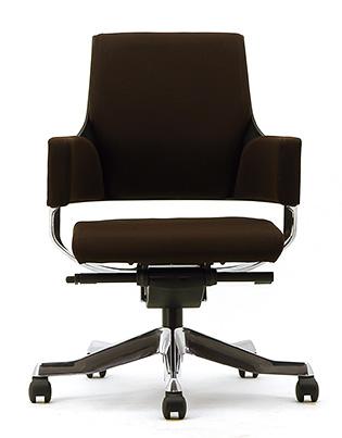 MERRYFAIR DELPHI デルフィチェア パソコンチェア PCチェア 事務椅子 事務チェア かっこいい スタイリッシュ モダンチェア キャスター付き ローバック 布張り ココア BL406